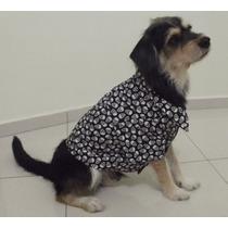 Roupa De Cachorro - Camisa Caveiras - Ref: Pinscher T0 T1 T2