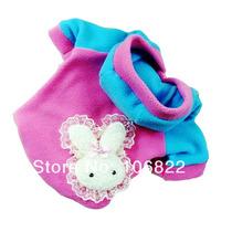 Roupa Casaco Para Cachorro Pequeno Porte Pink Azul Capuz P