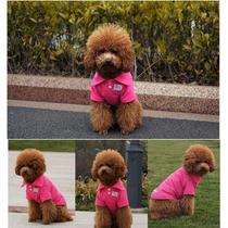Roupa Cachorro Camisa Polo Cor Roxa Tamanho M