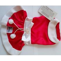 Vestido Natal Semi Jóia Para Cães E Gatos+par Laço Brinde