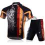 Conjunto Uniforme Bike Bicicleta Ciclismo Camisa + Bermuda