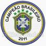Tpc108 Campeão Brasileiro 2011 Futebol Tag Patch Bordado 8cm