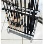 Expositor De Varas De Chão - Vareiro P/20 Varas Em Alumínio