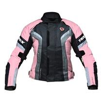Jaqueta Texx Feminina Motociclista New Venus - Rosatam: M