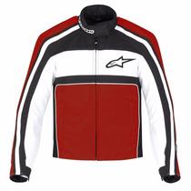 Jaqueta Alpinestars T-dyno Masc Impermeável Preta Vermelha