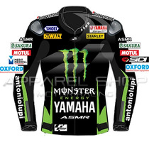 Jaqueta Yamaha Monster Smith Motogp Couro Split Apparel Shop