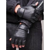 Luva X11 Air Couro Meio Dedo C/proteção Reforço Tamanho P.