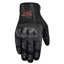 Luva Motociclista Verão X11 Blackout Com Proteção Plástica