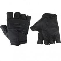 Luvas Meio Dedo,couro,alta Proteção,motos,custom,motoqueiro