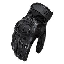 Luva Motociclista X11 Impact Cano Curto Couro C Protetor M