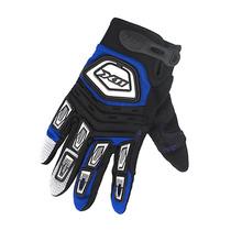 Luva X11 Motoqueiro Moto Nitro X Tecido Preto Azul M