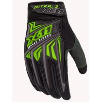 Luva X11 Nitro 3 Nova Verde Neon Proteção Moto Motociclista