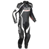 Macacão Tutto Racing 1 Peça Preto/branco/prata 56(2xl) Rs1