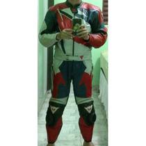 Macacão Dainese De Couro Moto 2 Peças Tam 48