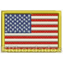 Bin020 Bandeira Eua Usa Estados Unidos 6cm Patch Bordado F1