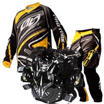 Colete 788 Pro Tork Conjunto Roupa Insane 3 Trilha Motocross