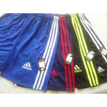 Shorts Calção Bermuda Adidas Kit Com 3 Peças Masculino