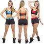 Conjunto Fitness Short - Top Cropped -academia-ginastica
