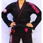 Kimono Predator Jiu-jítsu Mma Feminino Preto / Pink