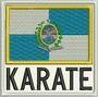 Atm066 Karate 9x9cm Kimono Arte Marcial Tag Patch Bordado