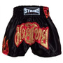 Shorts Muay Thai Kick Boxing Flama - Lateral Preto - G