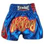 Shorts Muay Thai Kick Boxing Flama - Lateral Azul - M