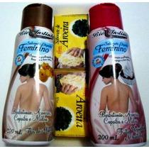 Kit 2 Sabonetes Liquido Intimo + 6 Sabonete De Aroeira Barra