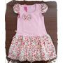 Vestido Infantil - Ref. 418 Rosa Floral Bia Bella Floral-
