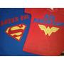 Camiseta Super Homem/ Mulher Maravilha Adulto Personalizada