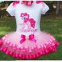 Fantasia Conjunto Tutu Rosa E Pink My Litlle Poney
