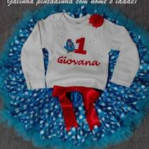 Roupa Fantasia Vestido Festa Aniversário Galinha Pintadinha