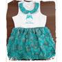 Vestido Infantil Em Poliéster - Ref. 528 Verde