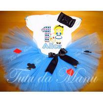 Fantasia Tutu Alice No País Das Maravilhas Personalizada
