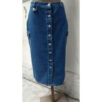 Saia Jeans Longuete Temporal M (cintura 76) - Seminova