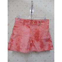 Shorts Rosa- Tecido - Rodada Babado - Shorts
