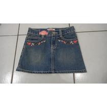 Oshkosh Saia Jeans Infantil Com Shorts 4 Anos
