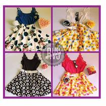 Conjunto Saia Floral + Blusinha Detalhe Renda + Cinto Couro!