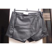 Saia-shorts Em Couro Sintetico C&a Tam 38 Nova C/ Etiqueta