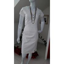 Vestido Moda Evangélica Titanium Off White - 40 - 42