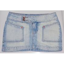 Mini Saia Jeans Claro Revanche - Tamanho 36