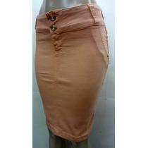 Saia Jeans Color - Laura Rosa Tam. 36/42/46 - Frete Gratis