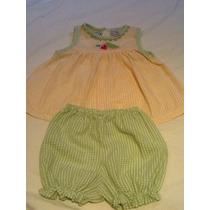 Vestido/blusa + Short + Chapéu 12 M