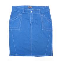 Saia Jeans Plus Size Em Sarja (48 Ao 52) - Linda Evangélica