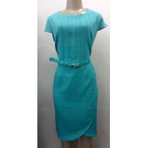 Vestido Moda Evangelica C/ Cinto - P/ G/ Xg
