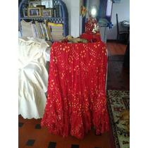 Saia Cigana-veste Manequim 42/48-produto Da India Em Até 24x