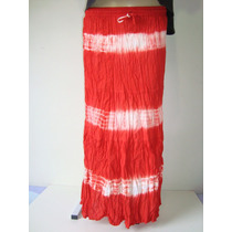 Saia Longa 100% Algodão Tie Dye Vermelha Indiana 2