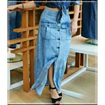 Saia Jeans Longa. *consultar Tam Disponível*