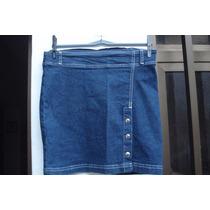 Saia Curta Em Jeans Da Shoel Tam M Nova C/ Etiqueta