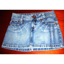 Mini Saia Feminina Jeans Billie Brother N.38 S/strech A-1