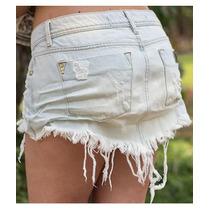 Saia Bico Amassada Jeans Destroyed Desfiada Estilo Degrant